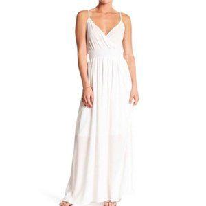 West Kei White Sleeveless Gauze Maxi Dress